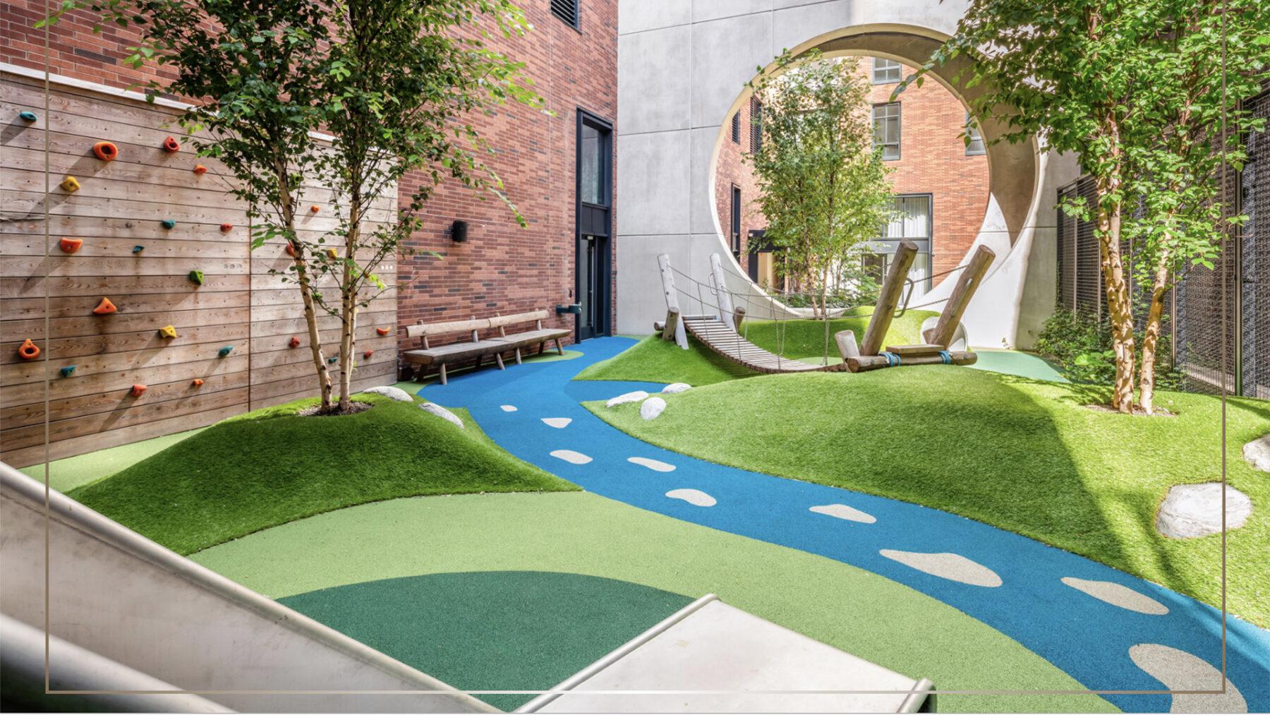 NY Kent Rooftop Playground install
