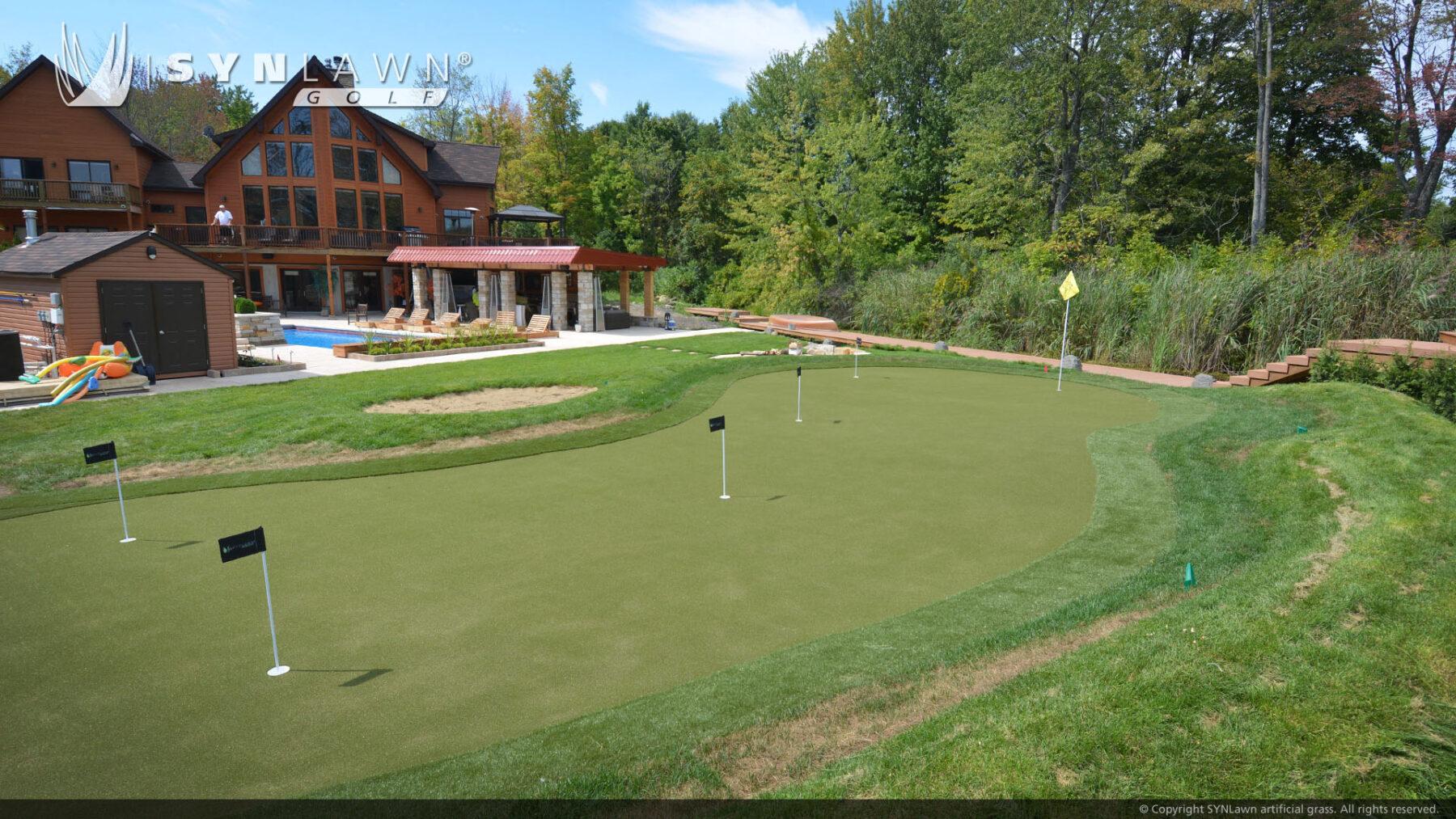 artificial grass installation for new york putting green