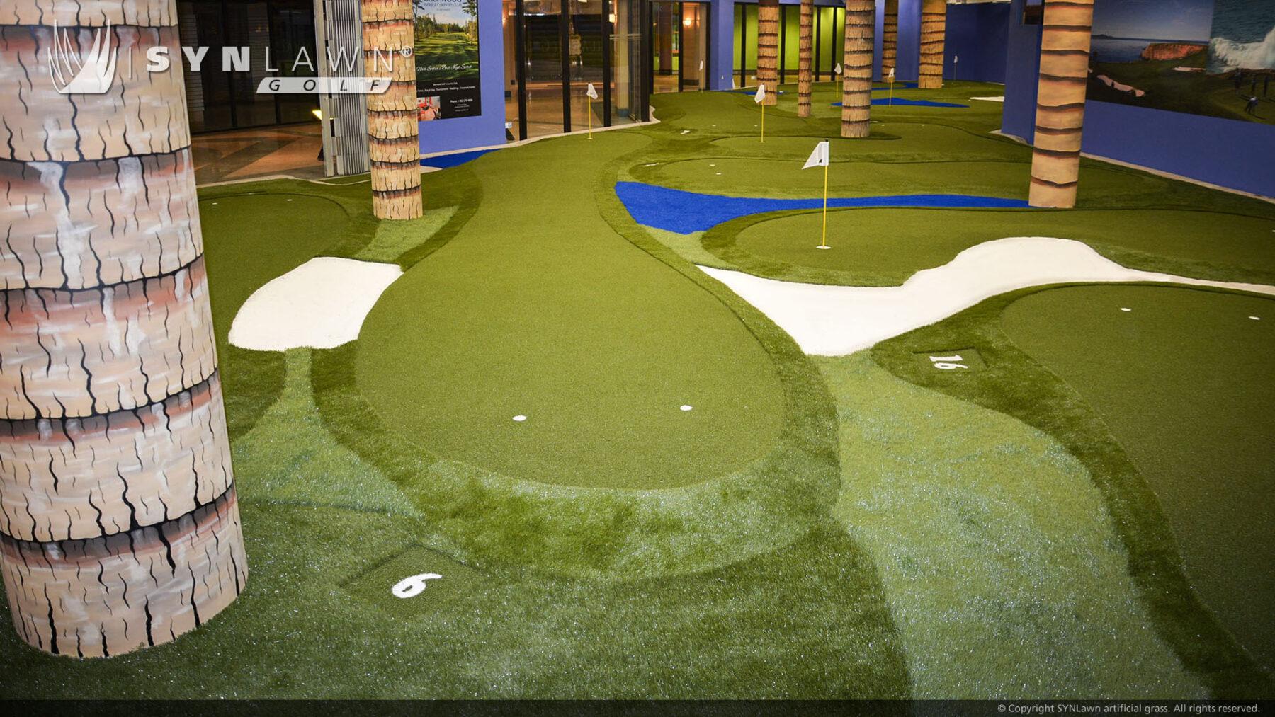 indoor putting green, artificial grass installation