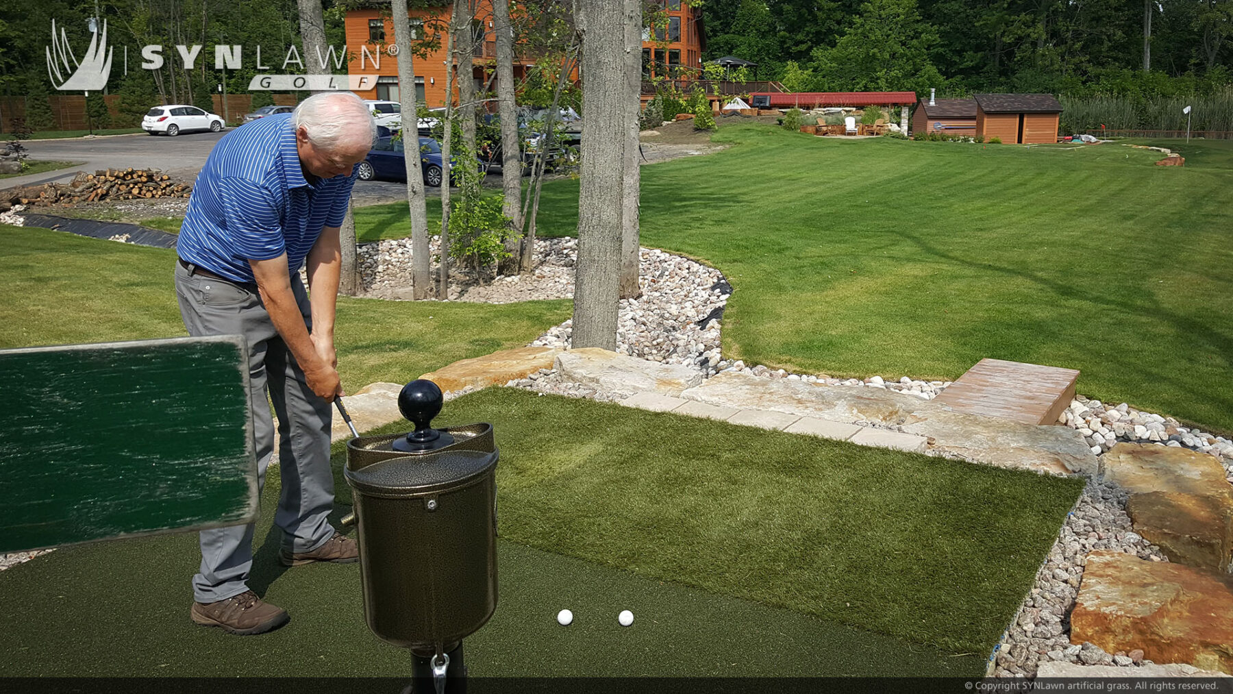 artificial grass for back yard putting green