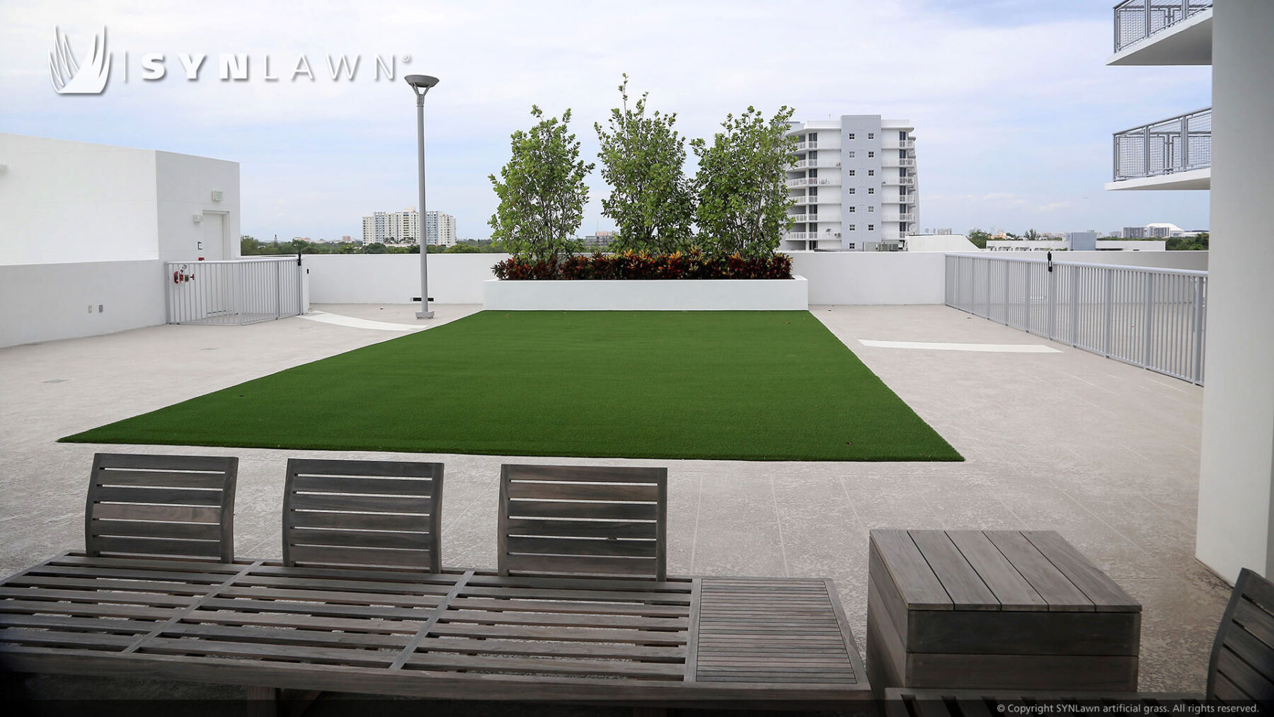 artificial lawn on rooftop new york