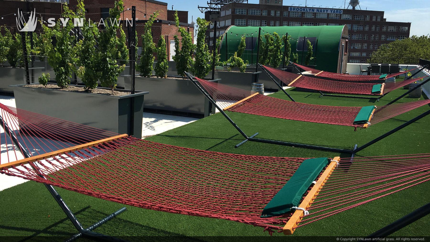 new york rooftop, artificial grass