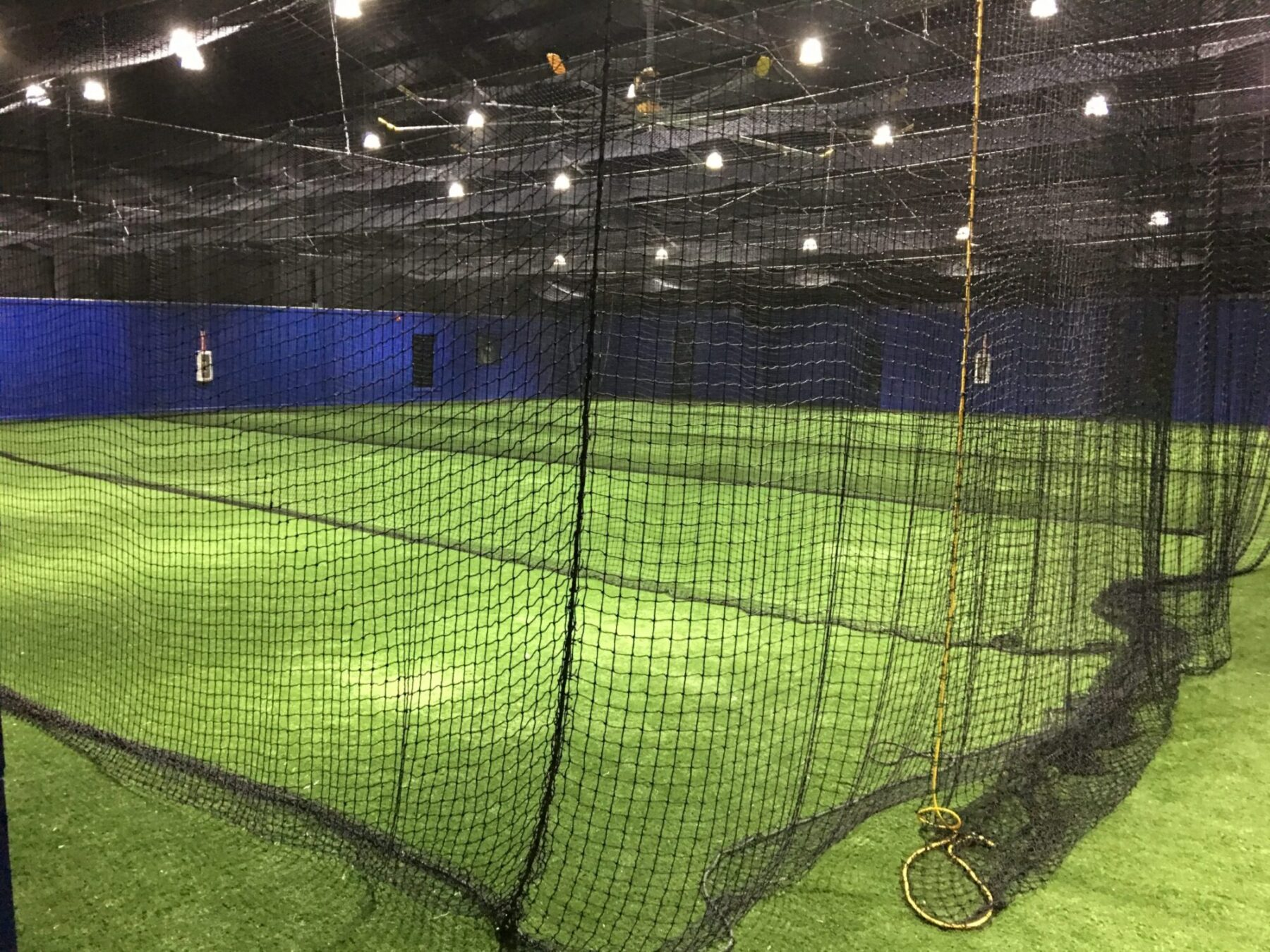 new york indoor batting cage artificial lawn install