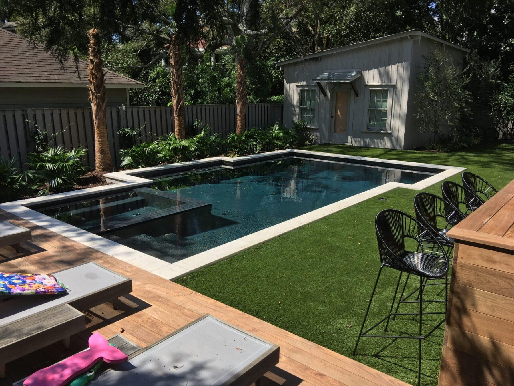 backyard residential, artificial grass