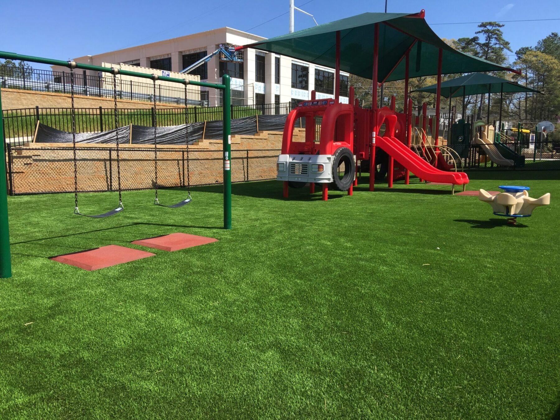 school playground turf installation near me