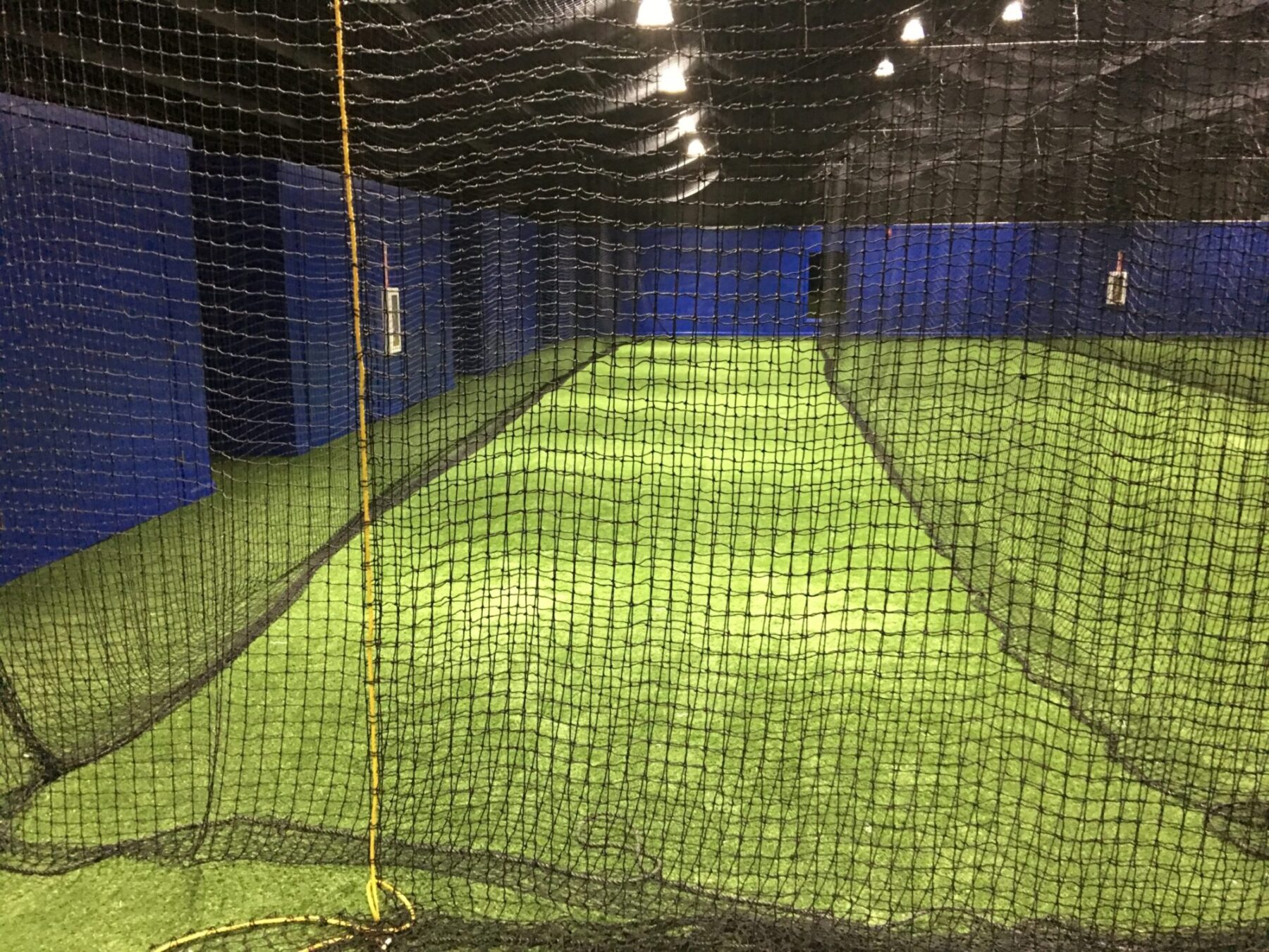 batting cage artificial grass installation