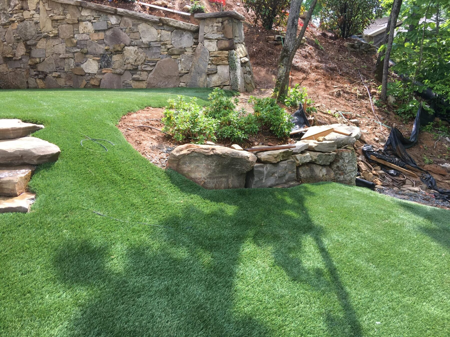 Artificial lawn, residential new york
