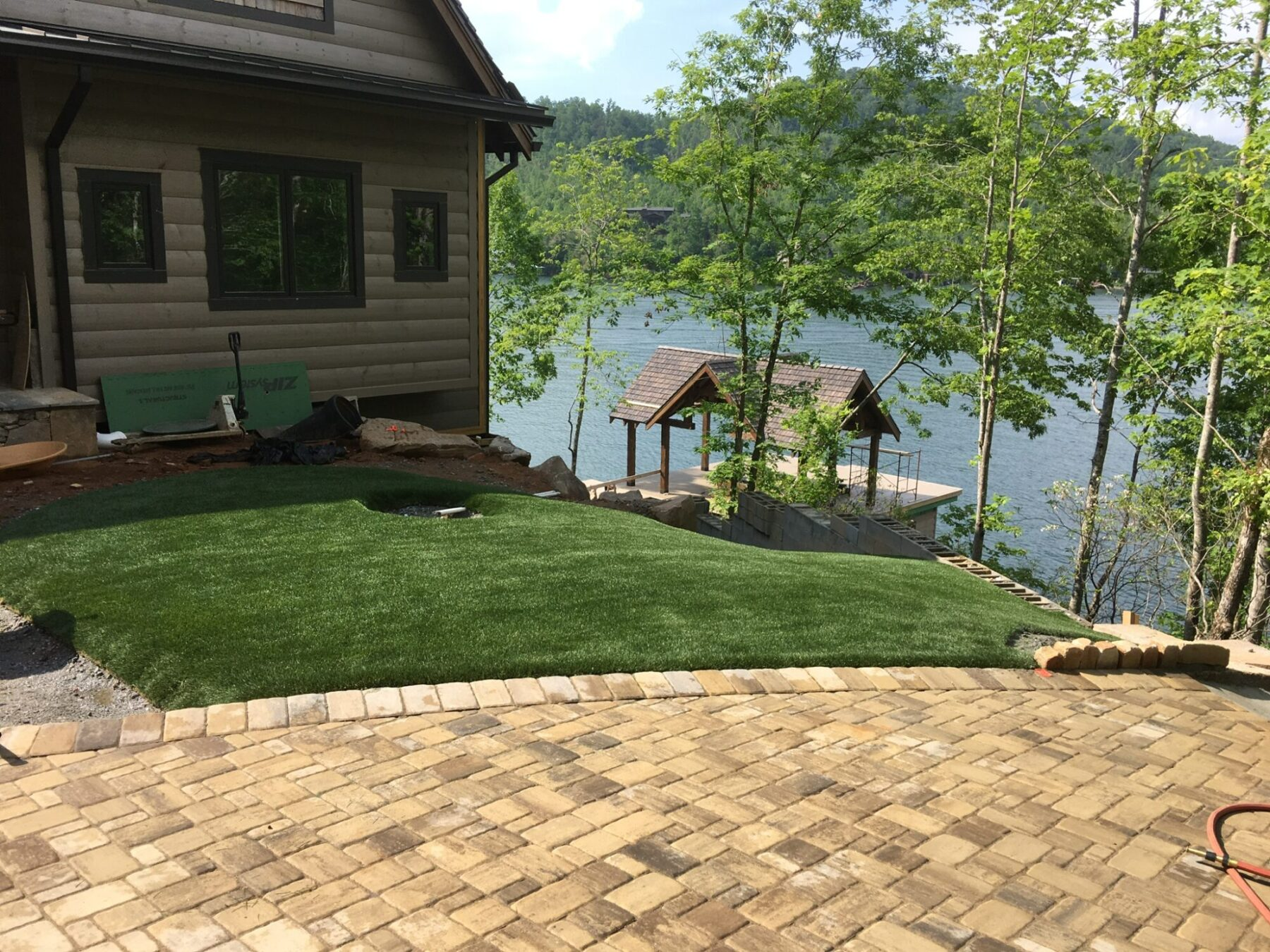 affordable residential home with artificial grass