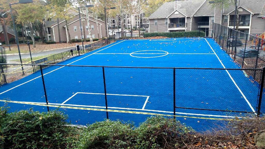 residential sports field artificial grass installation