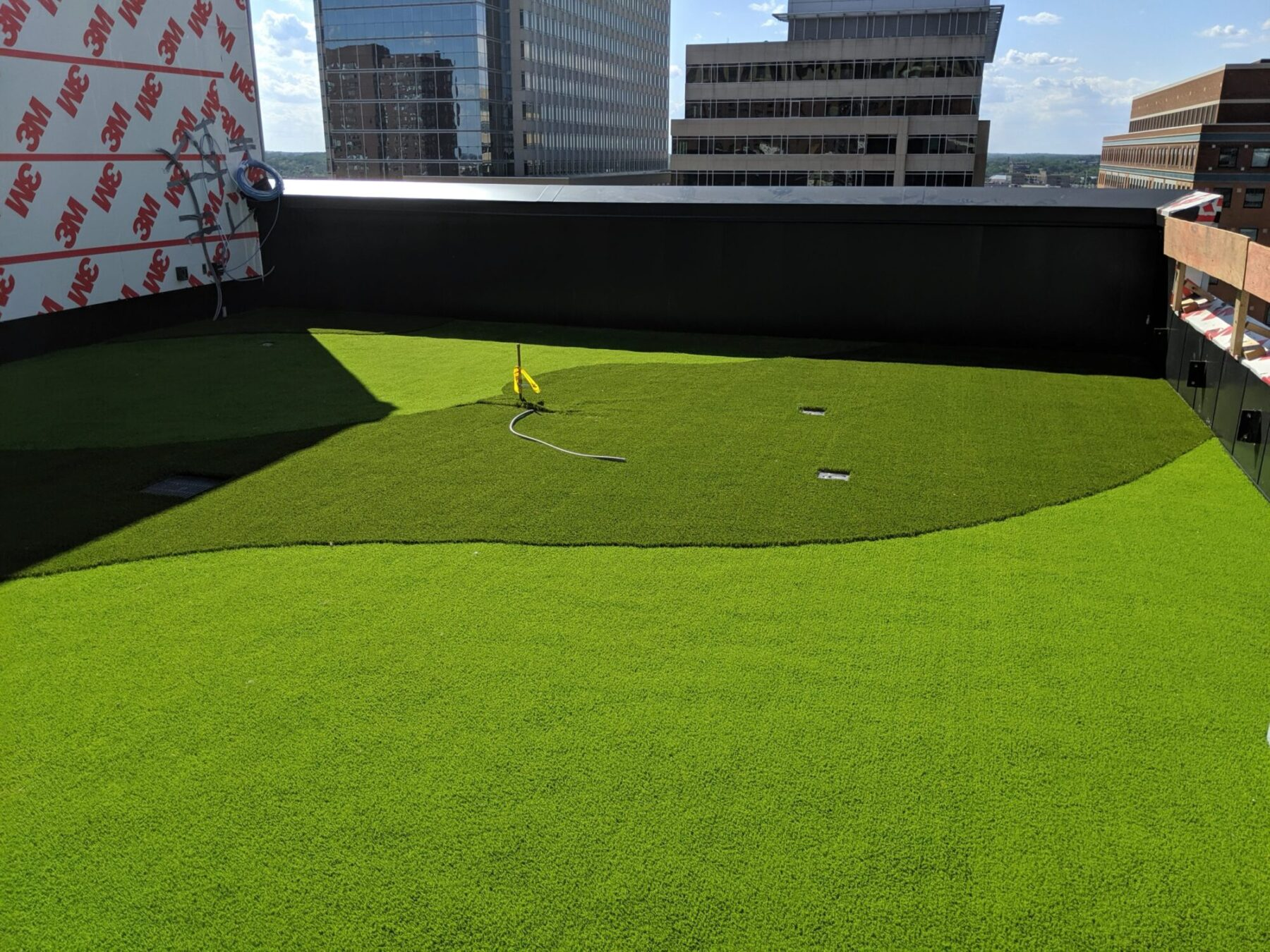 putting green on new york rooftop