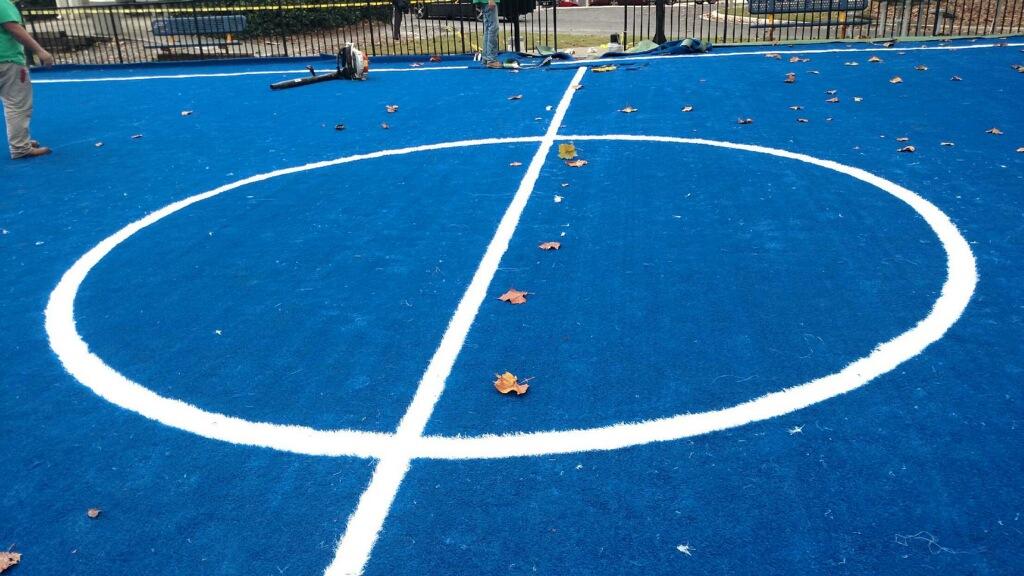 sports field turf installation