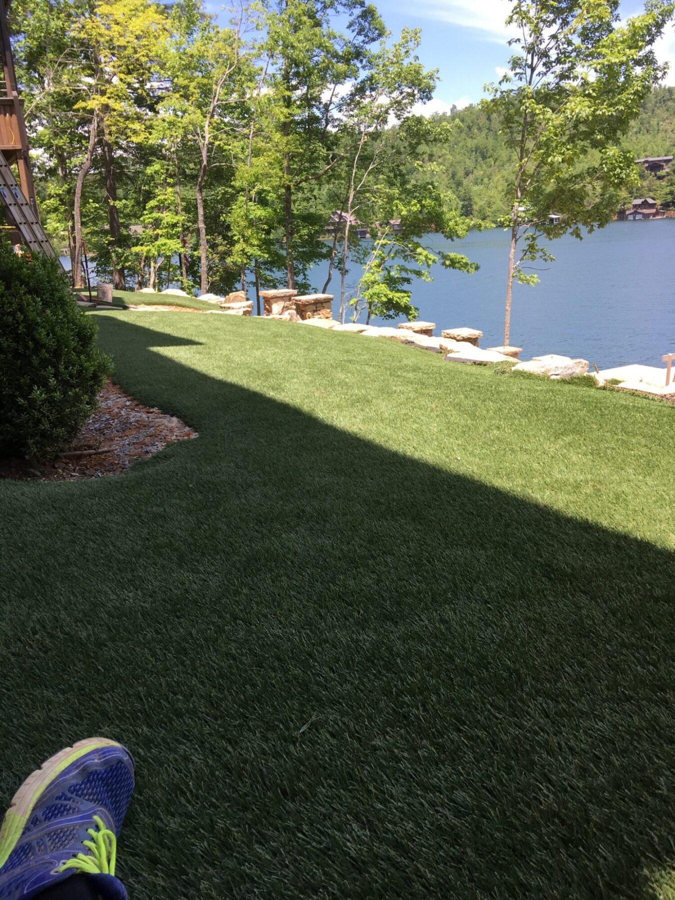 Artificial grass installation for new york backyard