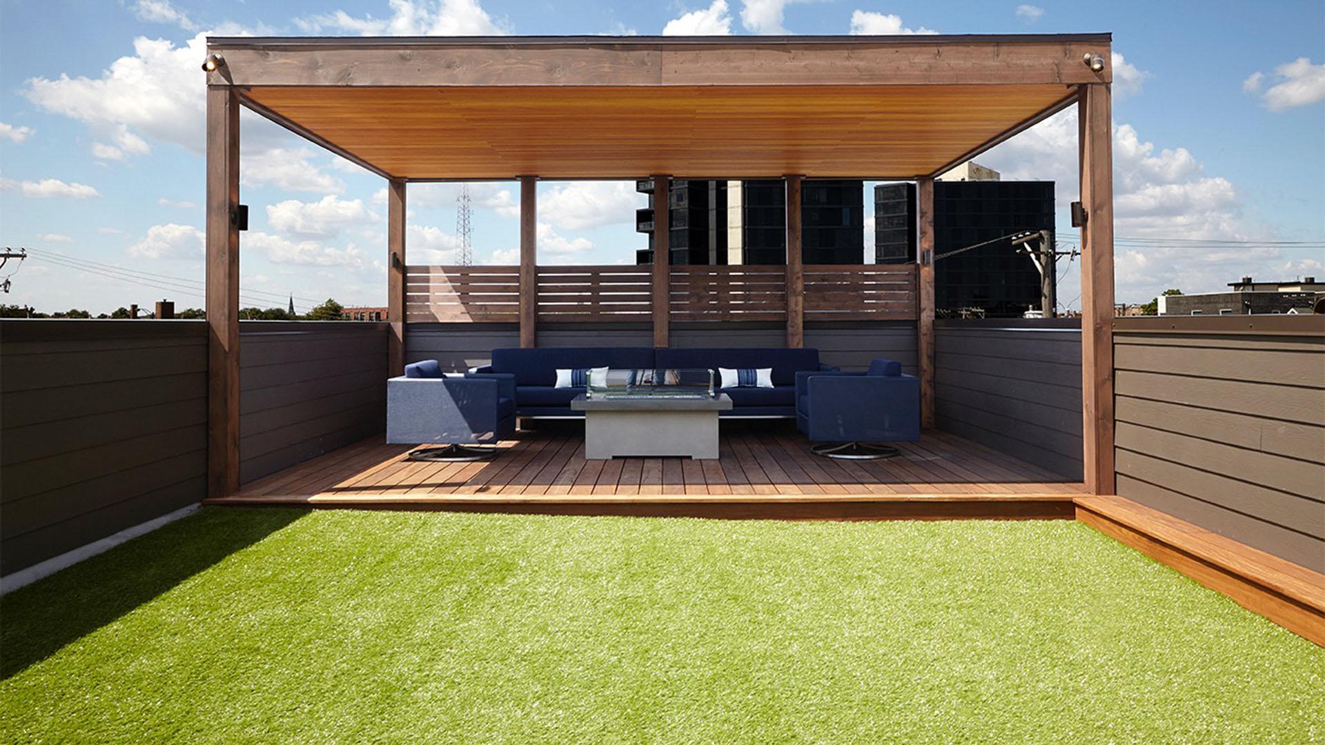 Rooftop artificial grass, new york