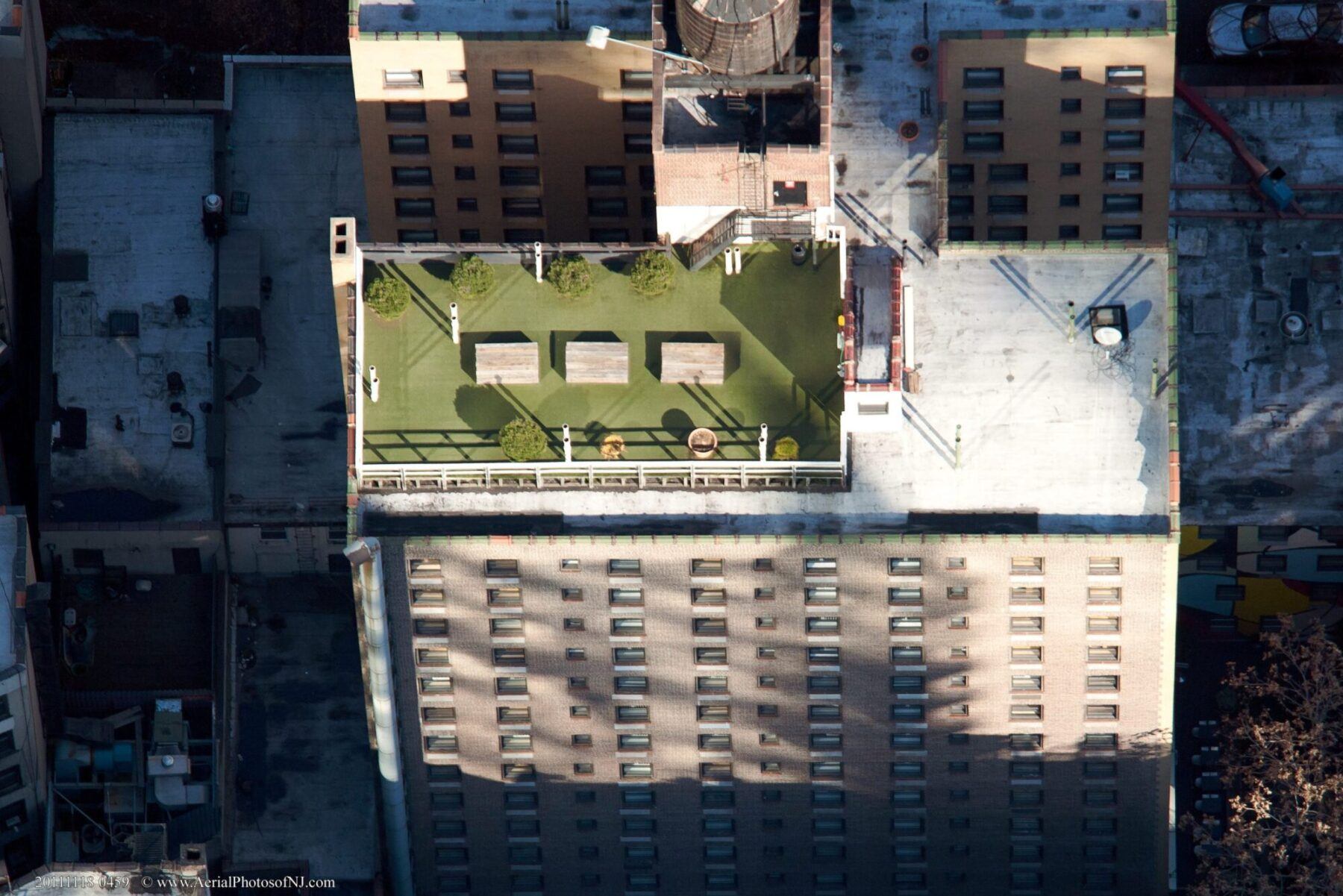 artificial lawn on rooftop in new york