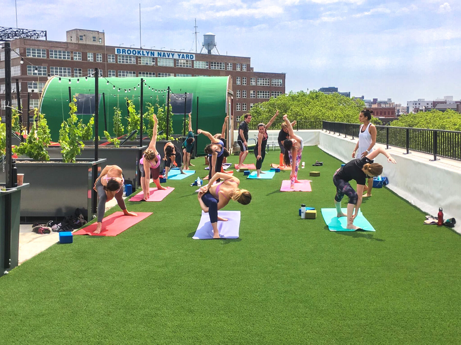 Commercial, New York, Roof, Roofdeck, SYNLawn, Vinyard, Winery, Yoga, artificial grass, lifestyle, rooftop