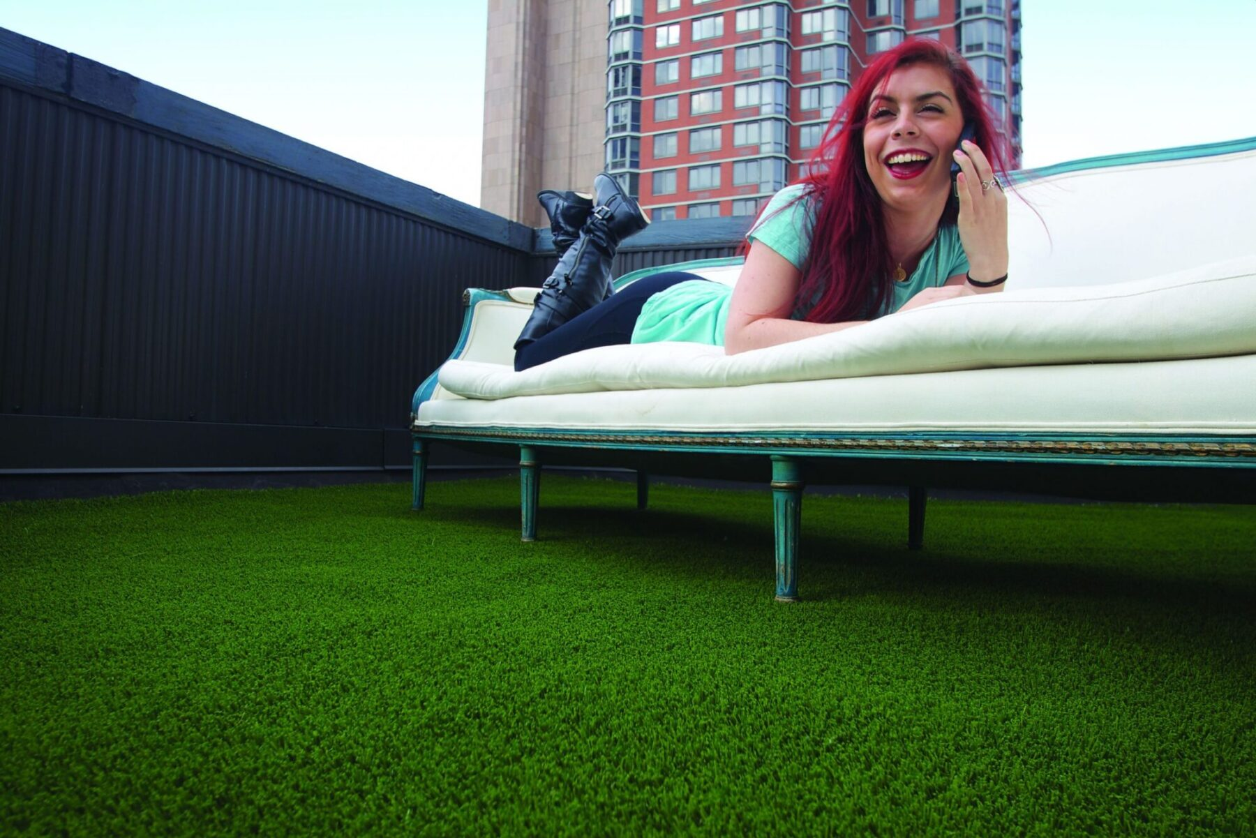 affordable artificial rooftop grass