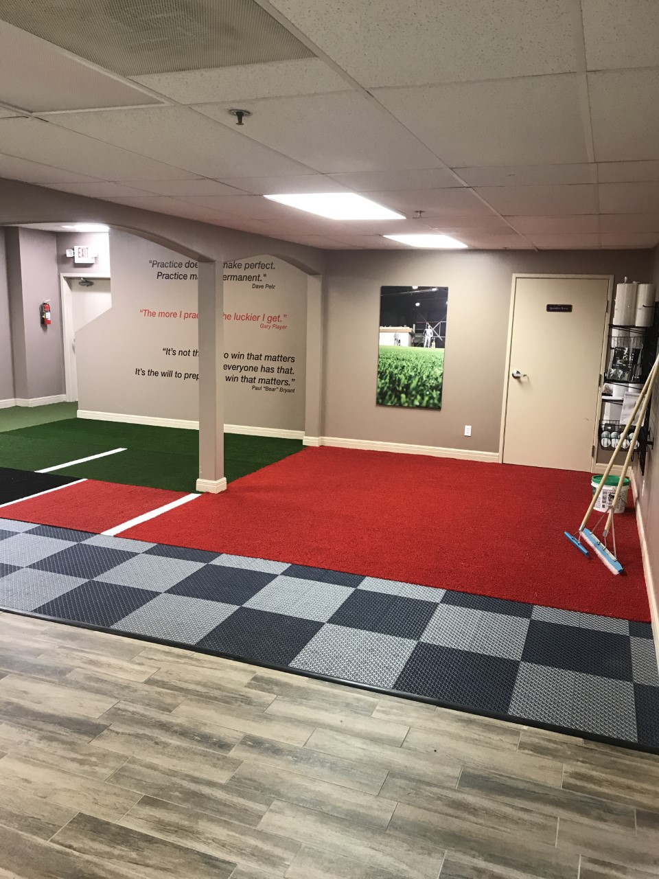 Commercial indoor lawn, artificial grass