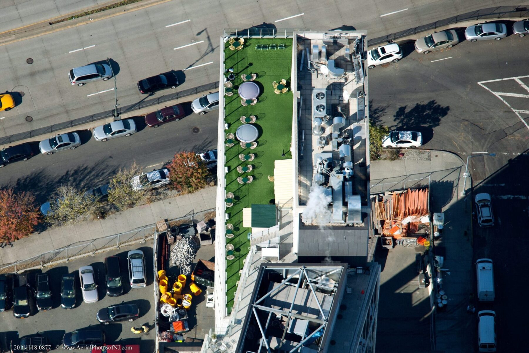 new york rooftop, affordable artificial grass installation