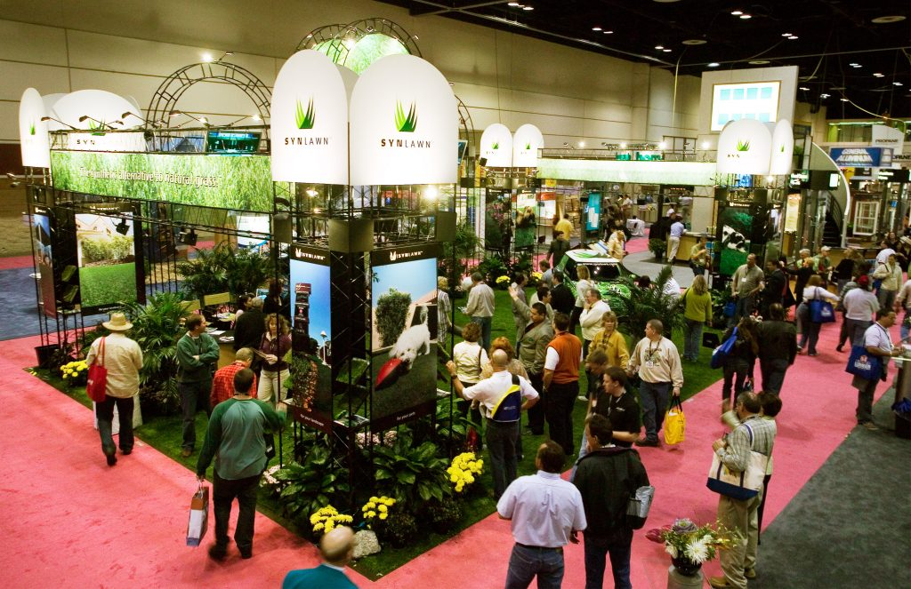 Synlawn convention show, artificial grass, turf