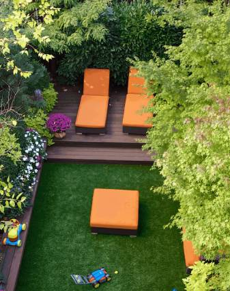 Artificial lawn install