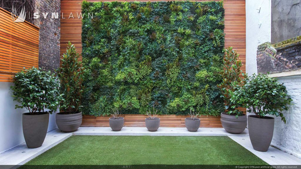artificial green living walls by syn lawn