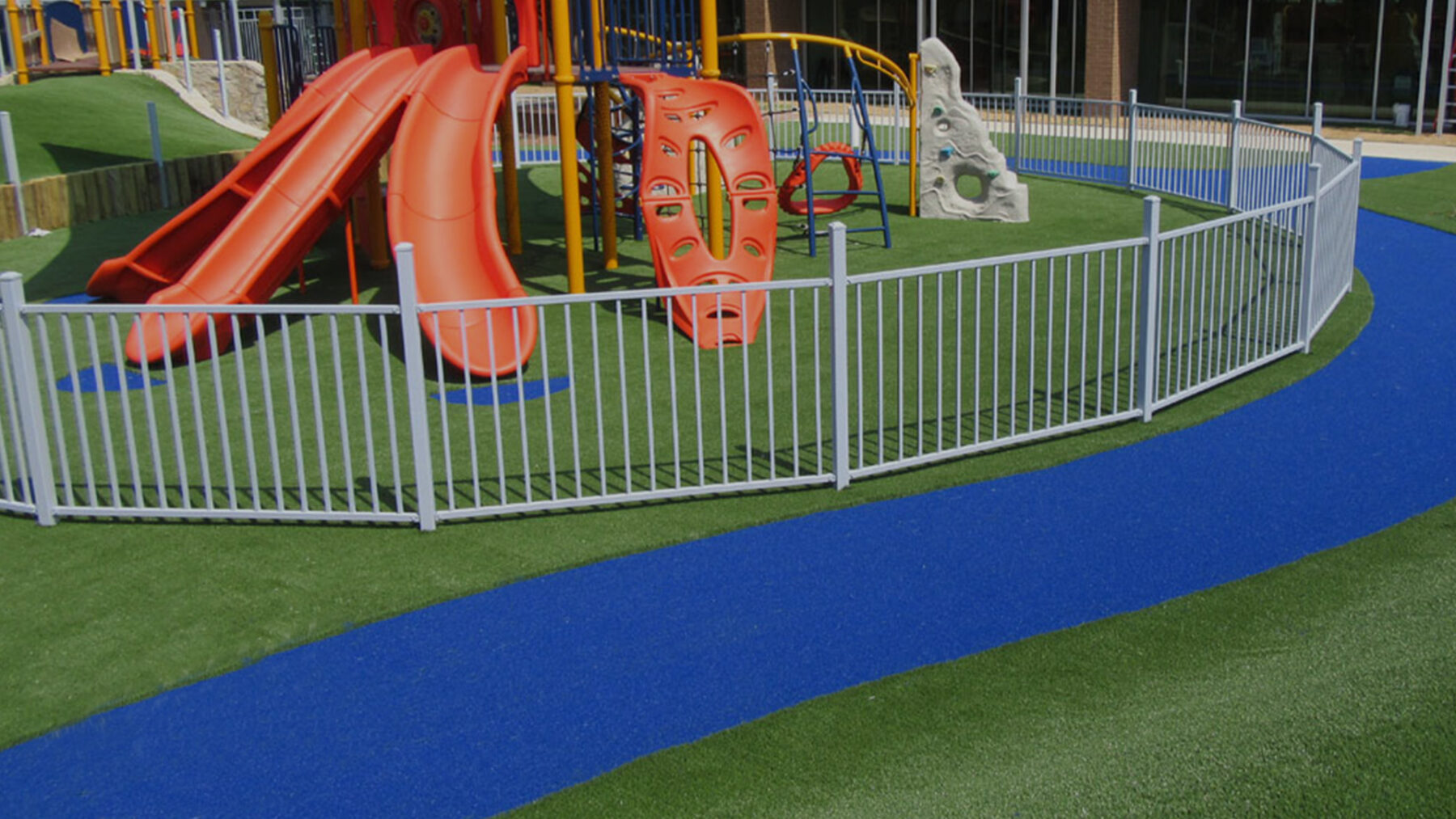 playground artificial turf install