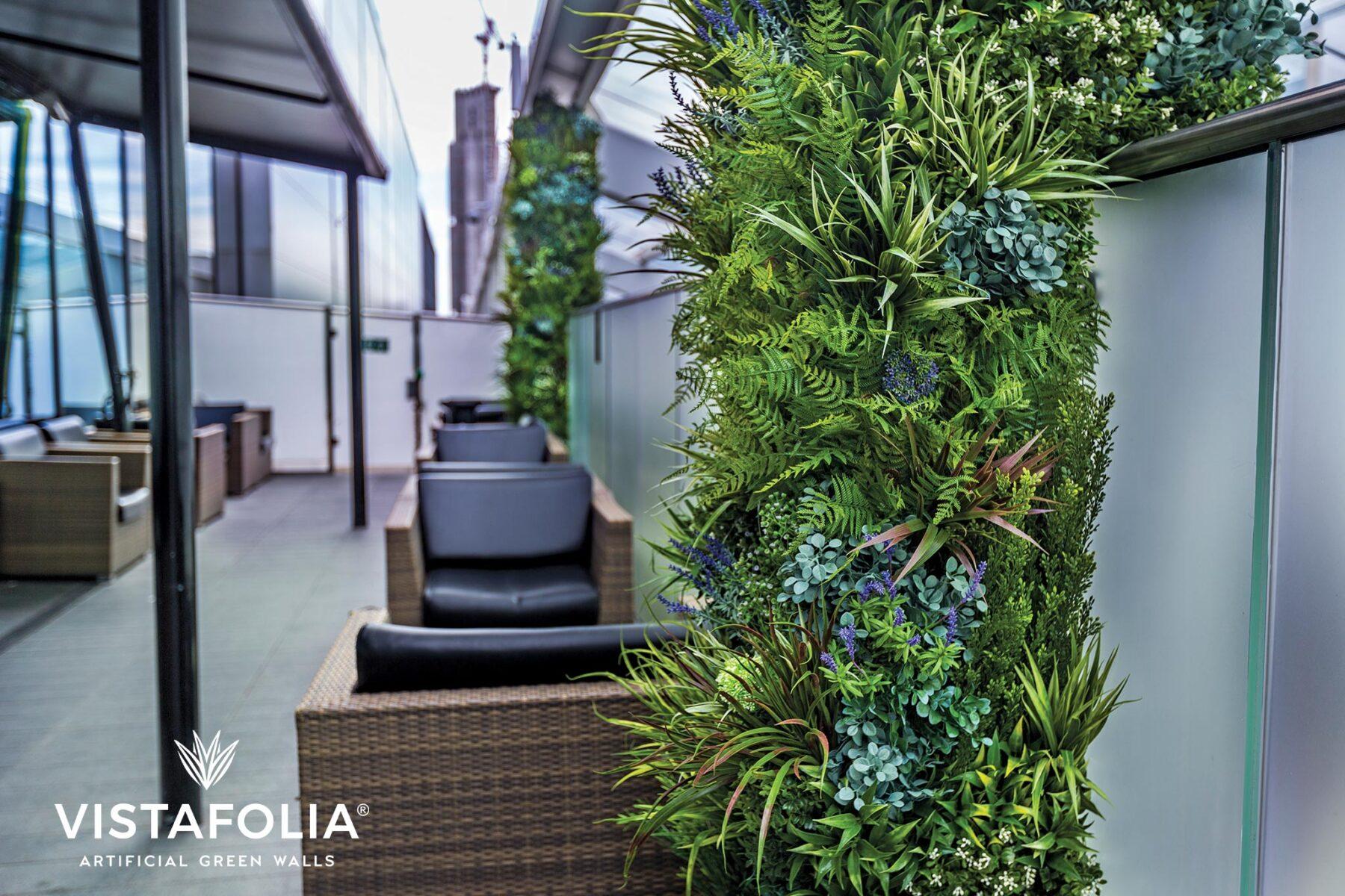artificial green walls in new york, vistafolia