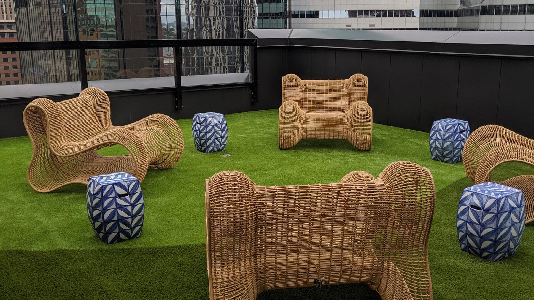 New York Artificial roof top grass