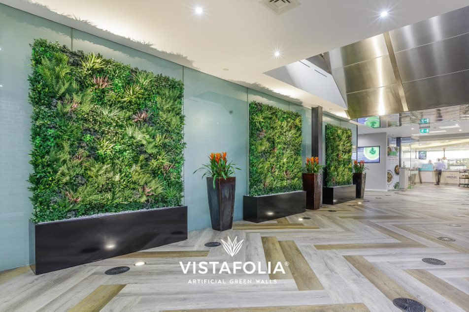 artificial green walls for office space, vistafolia
