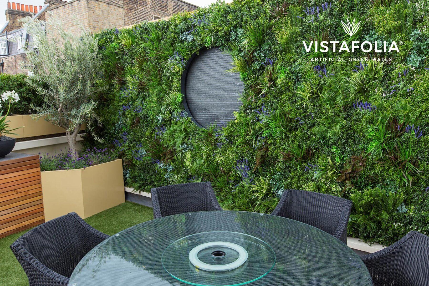 green walls artificial grass installation, vistafolia