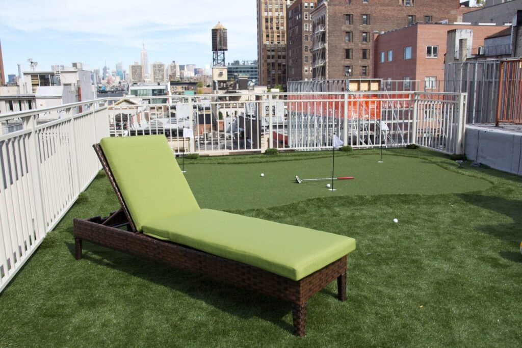 roof top putting green installation