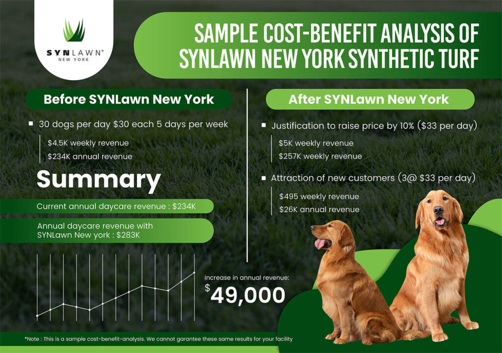 SYNLawn NY pet turf graph cost analysis